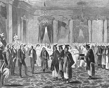 Detail: Samurai at the White House, 1860