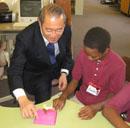 Ambassador Ichiro Fujisaki at Orr Elementary School